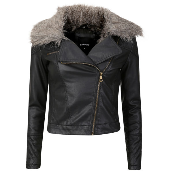 Black Leather Jacket With Sheepskin Collar - Best Jacket 2017