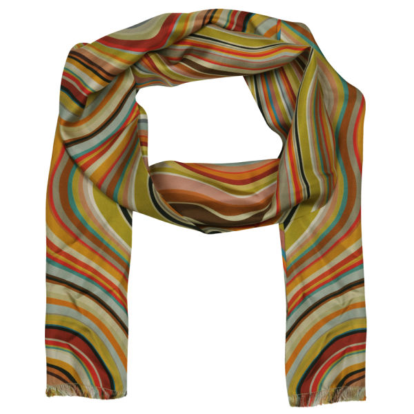 Paul Smith Accessories Women's Silk Scarf - Multi Swirl