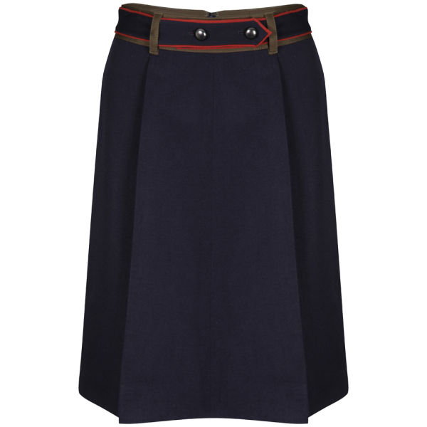 Marc by Marc Jacobs Women's Wool Twill Skirt - Prairie Indigo