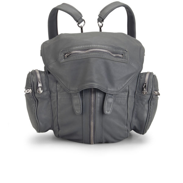 Alexander Wang Marti Washed Leather Backpack - Exhaust