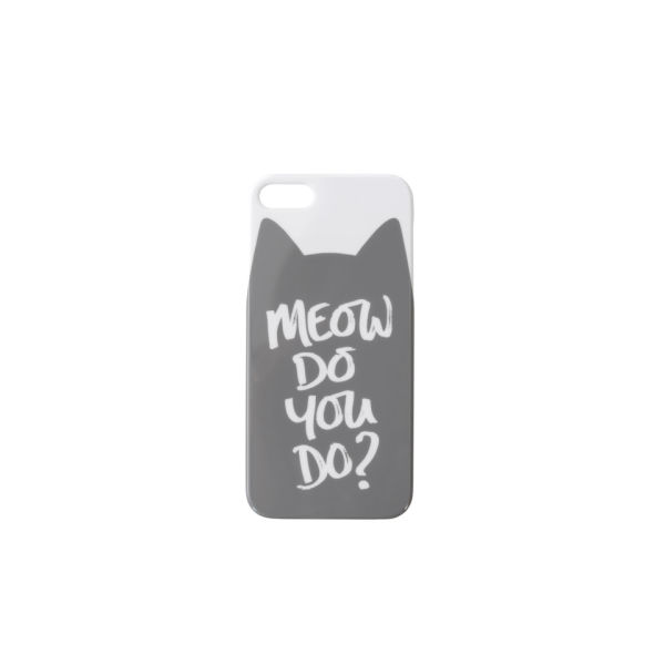 Alphabet Bags 'Meow Do You Do?' iPhone 5/5S Case - White/Grey