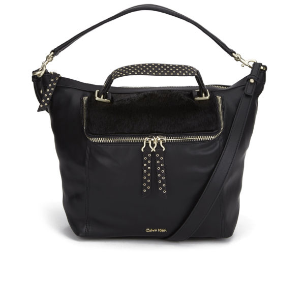 Calvin Klein Women s Faye Pony Hobo Bag - Black Womens ... 331d07cd1f