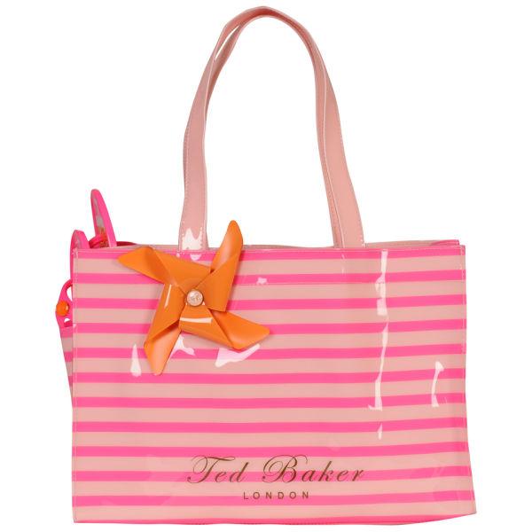 95836ff3ec89 Ted Baker Telley Neon Stripe Flip Flop and Ikon Bag - Bright Pink  Image 1