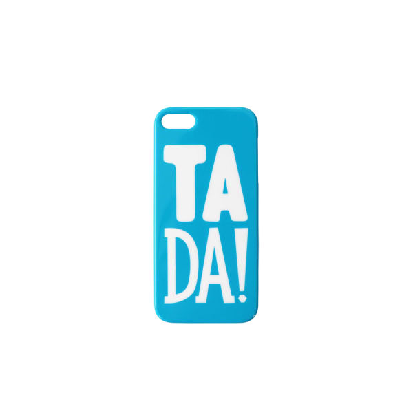 Alphabet Bags 'TA DA!' iPhone 5/5S Case - Blue