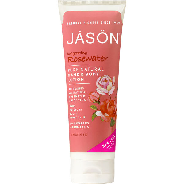 JASON Invigorating Rosewater Hand and Body Lotion (250g)