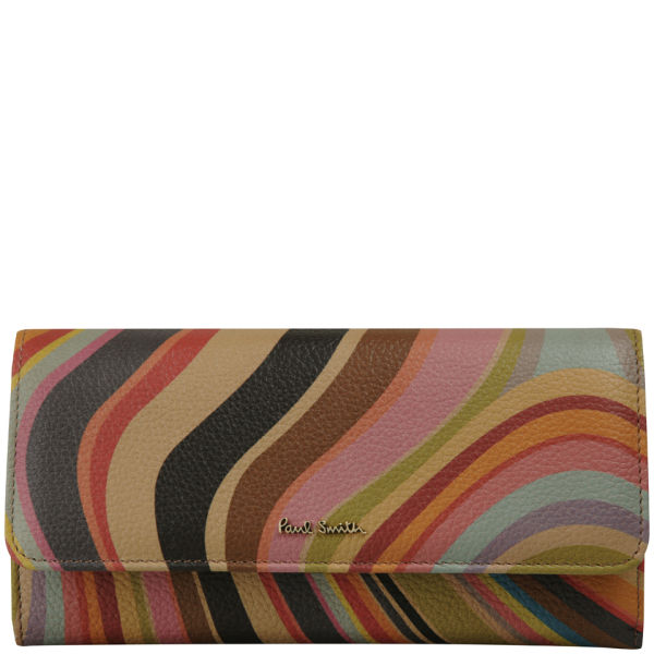 Paul Smith Accessories Women's Trifold Continental Purse - Multi Swirl