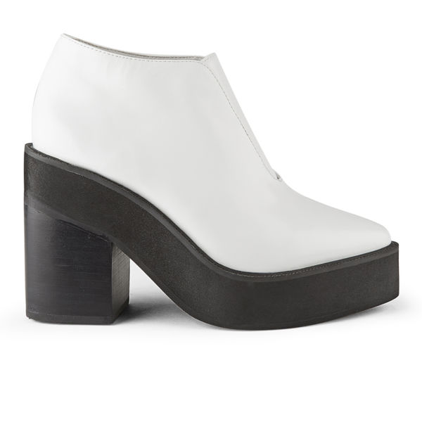Sol Sana Women's Wyatt Leather Platform Ankle Boots - White