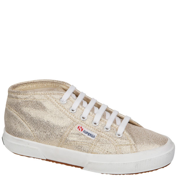 Superga Women's X Rita Ora High Top Trainers - Gold