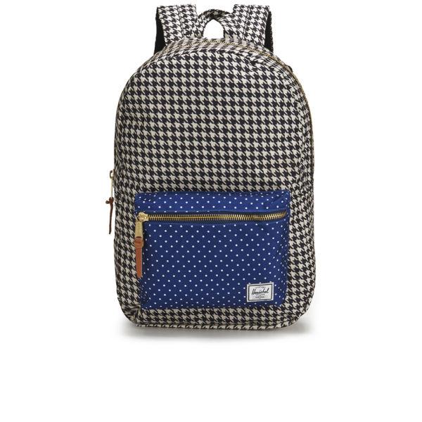 f0bd5e9441bd Herschel Supply Co. Settlement Front Zip Pocket Backpack - Houndstooth Navy Polka  Dot