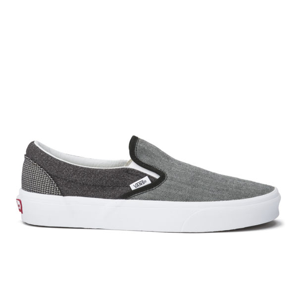 Vans Men's Classic Suiting Mix Slip-On Trainers - Black/True White: Image