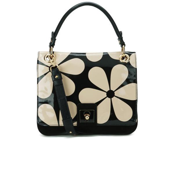 Orla Kiely Leather Ivy Bag Marble Image 1