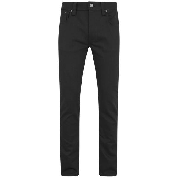 Nudie Jeans Men's Thin Finn Tight Fit Narrow Leg Jeans - Black Ring