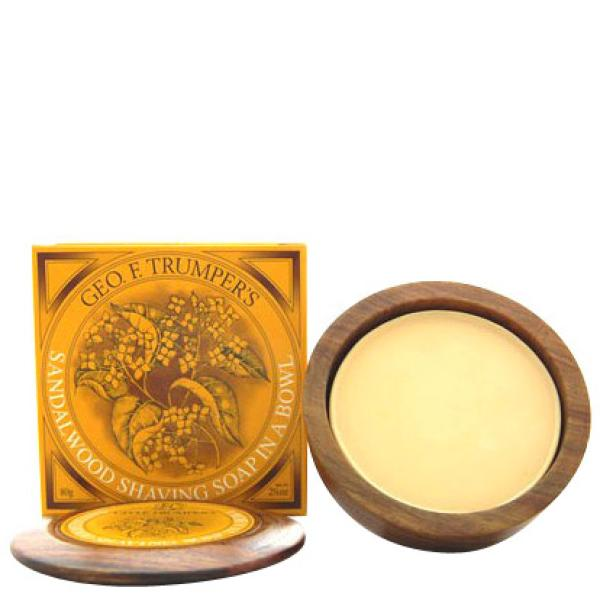 Geo. F. Trumper Trumpers Wooden Shave Bowl - Sandalwood (Normal Skin)
