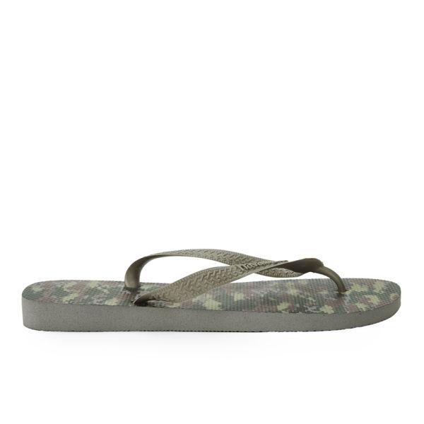 de226aea9c25 Havaianas Men s Camouflage Top Flip Flops - Green  Image 2