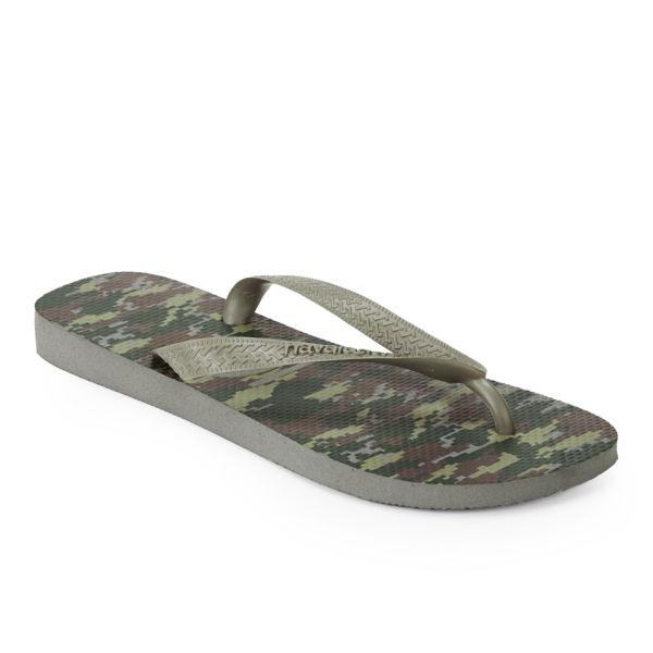 2ad52a4e72c0 Havaianas Men s Camouflage Top Flip Flops - Green  Image 3