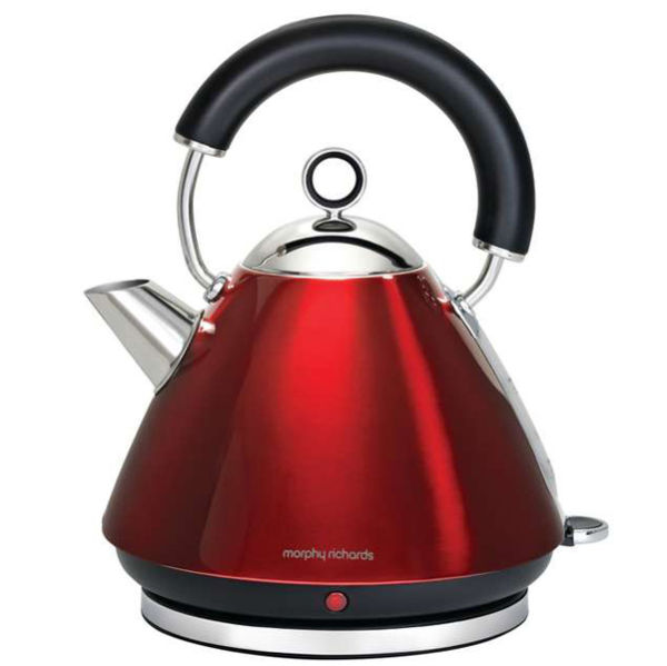 Morphy Richards Ekspres Pour Over: Morphy Richards Accents Traditional Kettle - Red