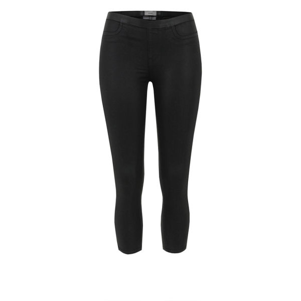 Helmut Lang Women's High Gloss Cropped Trousers - Black