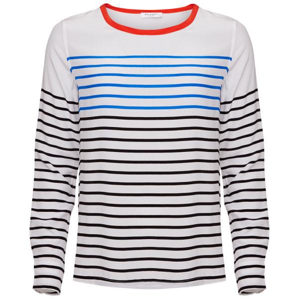 Equipment Women's Liam Tee Top - White Stripe