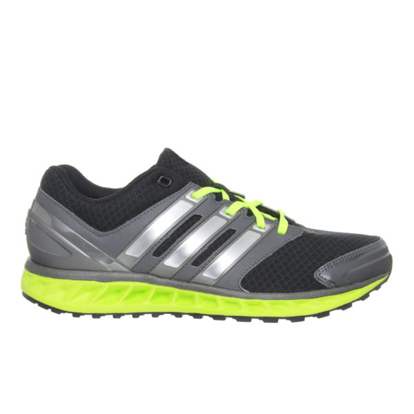quality design a48ab fbe77 adidas Men s Falcon Elite 3 Running Shoes - Black Silver Green  Image 1