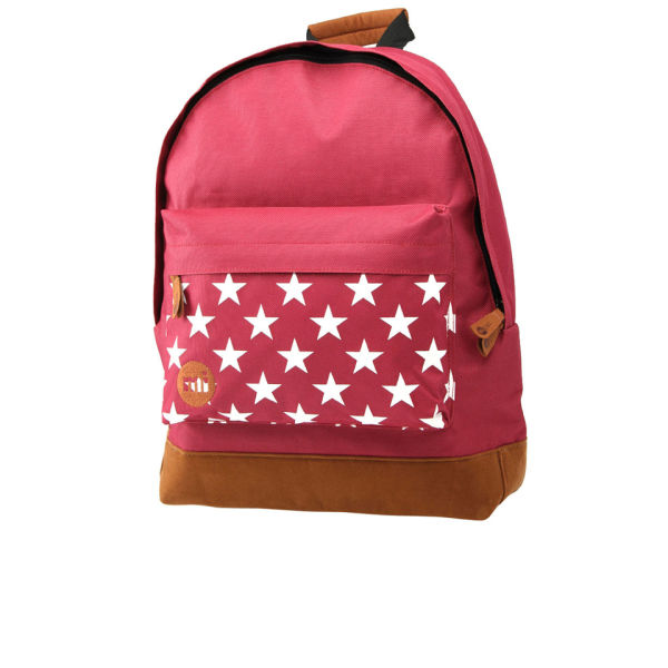 Mi-Pac Star Print Backpack - Burgundy