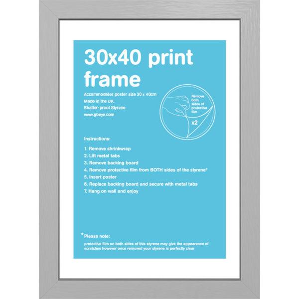 Silver Frame - 30 x 40cm