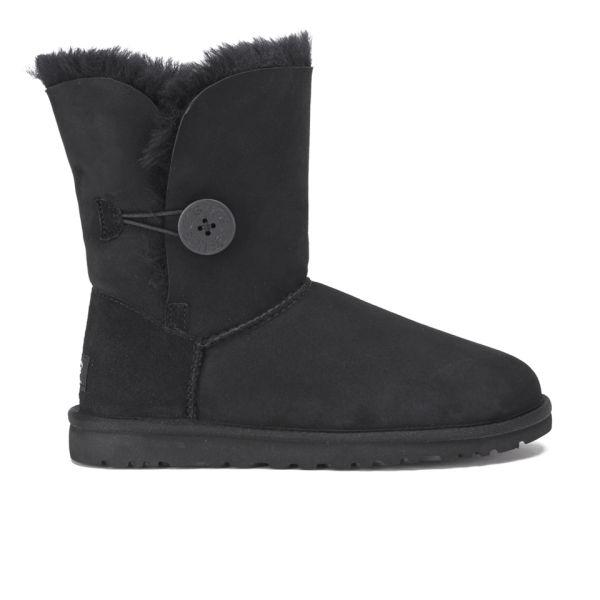 UGG Women's Bailey Button Sheepskin Boots - Black
