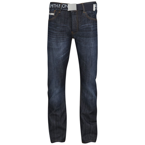 Smith & Jones Men's Furio Straight Fit Jeans - Dark Wash