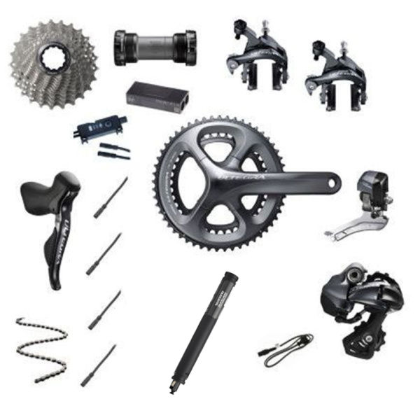 Shimano Ultegra Di2 6870 11 Speed 34/50 Compact Groupset - Grey