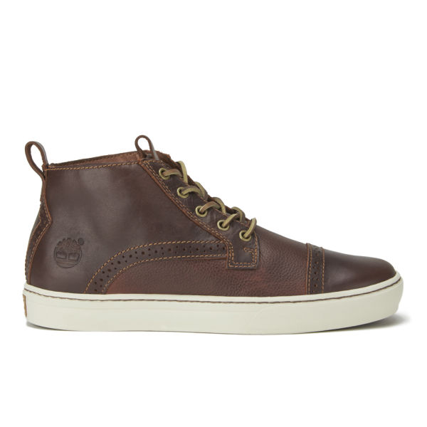 Timberland Men's Earthkeepers Adventure Cupsole Cap Toe Leather Chukka Boots - Dark Brown