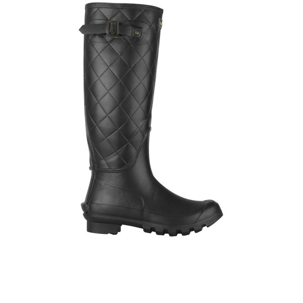 Barbour Women's Setter Quilted Wellington Boots - Black