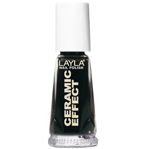 Layla Cosmetics Ceramic Effect Nail Polish N.31 Pure Black