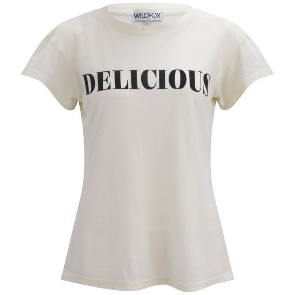 Wildfox Women's Desert Short Sleeve Crew T-Shirt - Vintage White
