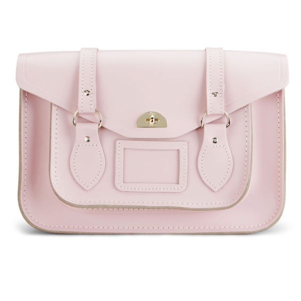 The Cambridge Satchel Company Large Leather Shoulder Bag - Peach Pink