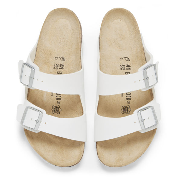 b7402e18a0 Birkenstock Men s Arizona Double Strap Sandals - White  Image 2