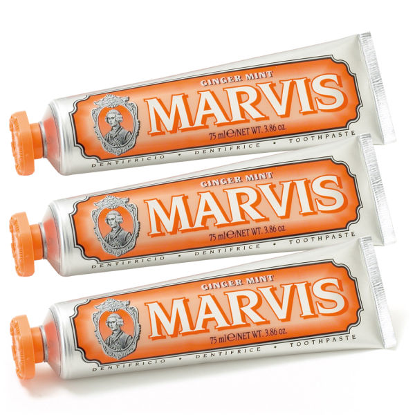 Marvis Ginger Mint Tannkrem Triple Pack (3 x 75 ml)