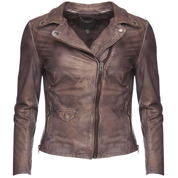 Muubaa Women's Lyme Biker Jacket - Copper