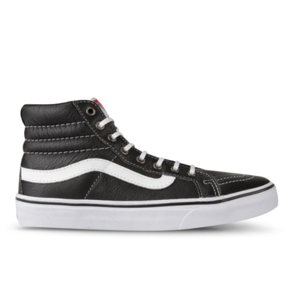 Vans Women's Sk8-Hi Slim Leather Hi-Top Trainers - Black