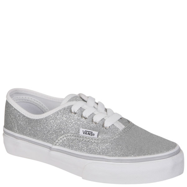 f3c9494bdc Vans Kids  Authentic Canvas Trainers - Glitter Silver  Image 1