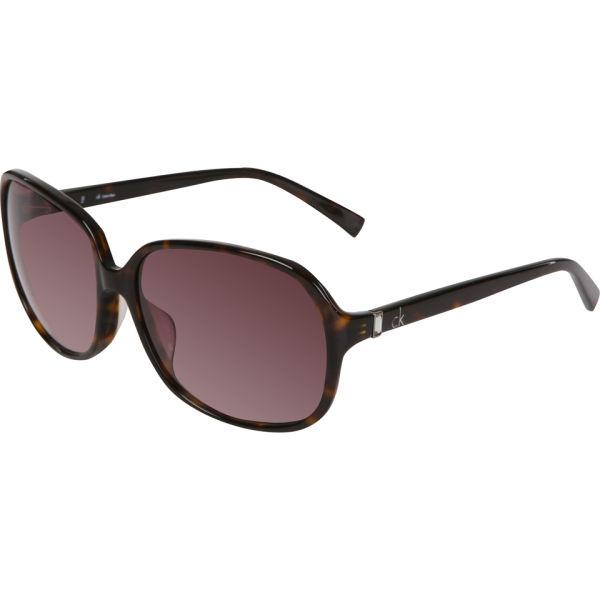 Calvin Klein Oversized Round Sunglasses - Havana