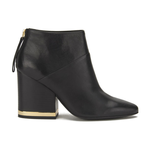 Ash Women's Indy Leather Heeled Ankle Boots - Black