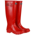 Barbour Women's Town and Country Wellington Boots - Red: Image 1