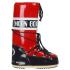 Moon Boot Women's Vinyl Boots - Red/Navy: Image 3