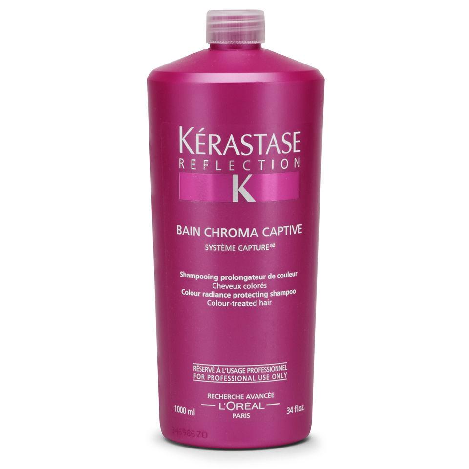 K rastase reflection bain chromacaptive 1000ml with pump for Kerastase reflections bain miroir shampoo
