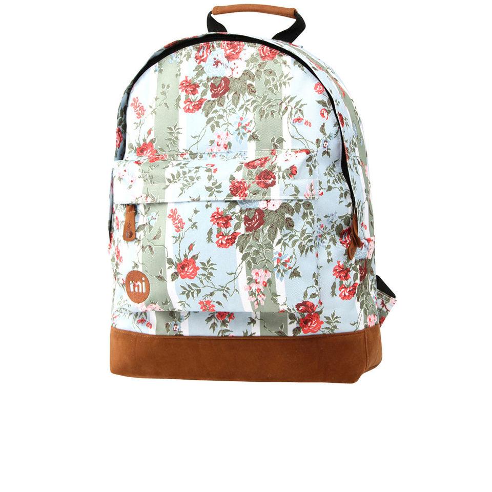 Mi Pac Floral Blue Rose Print Backpack Free Uk Delivery