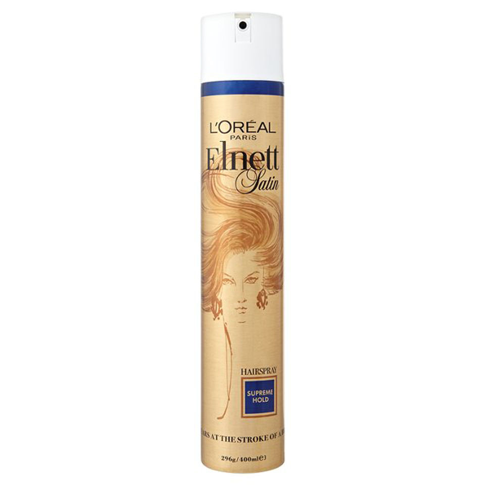 L Oreal Paris Elnett Satin Hairspray Supreme Hold 400ml