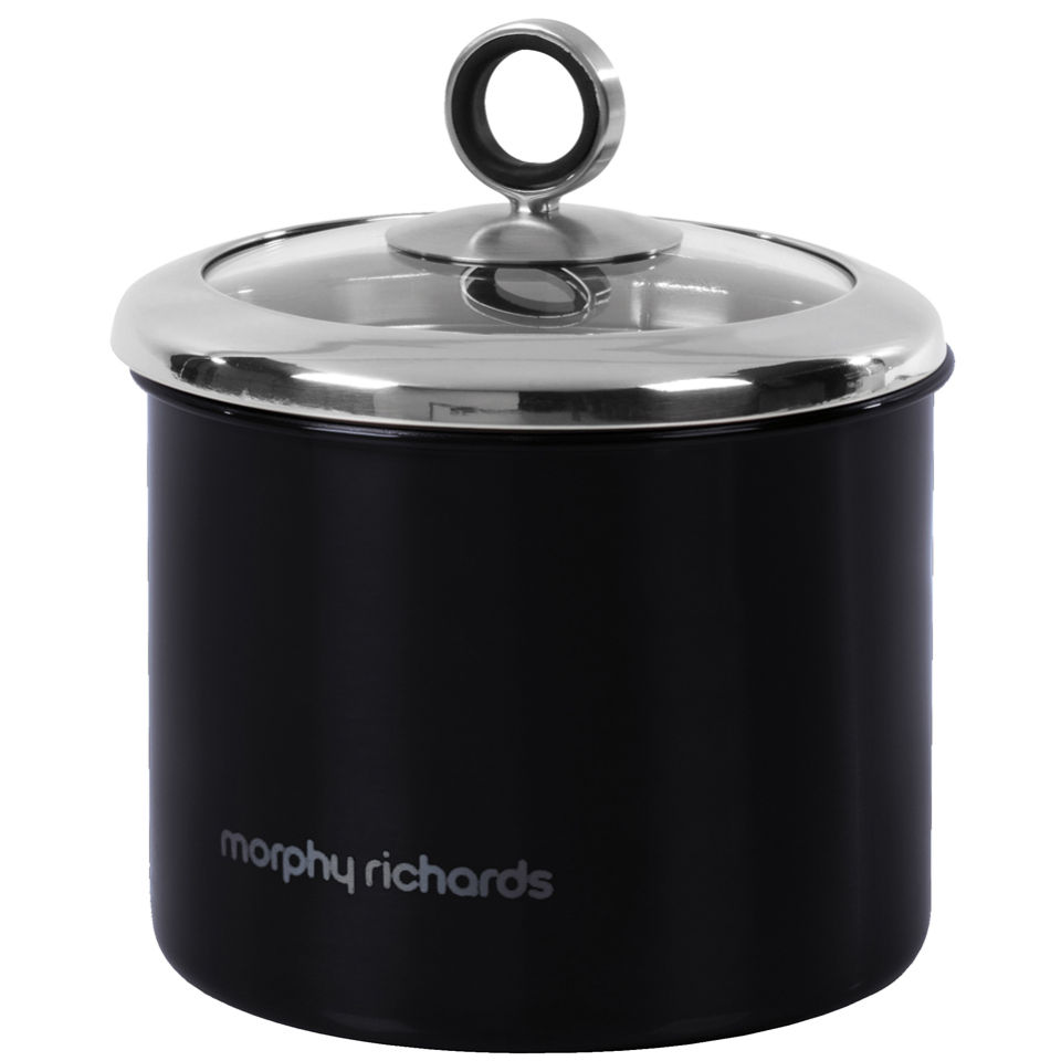 morphy-richards-accents-small-storage-canister-black