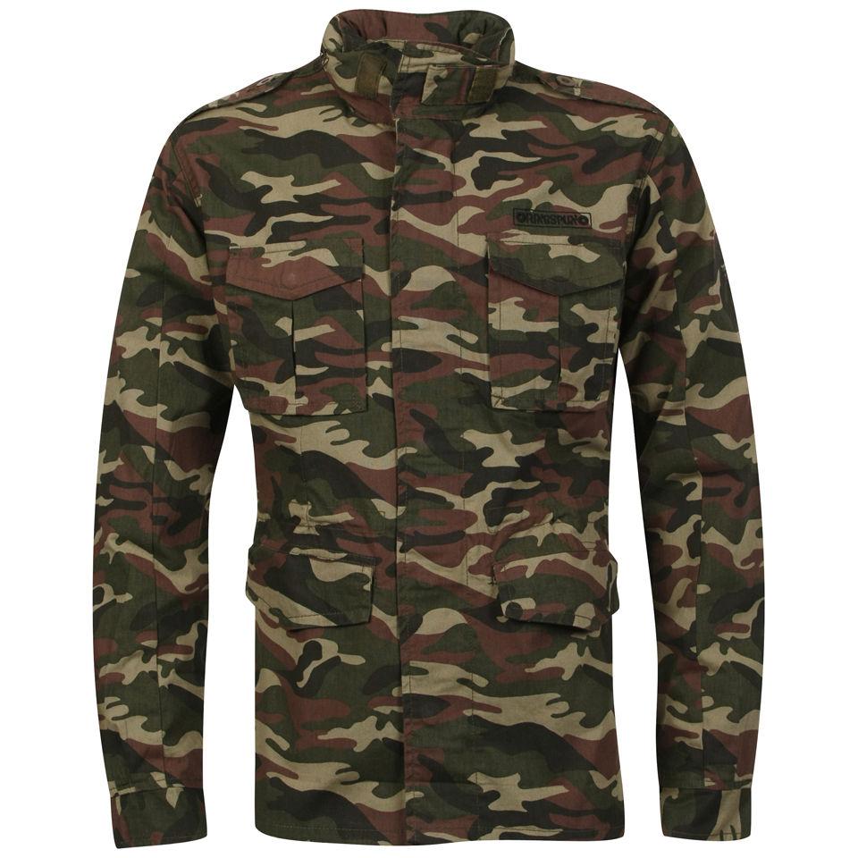 Ringspun Men S Platoon Jacket Khaki Camo Clothing Zavvi