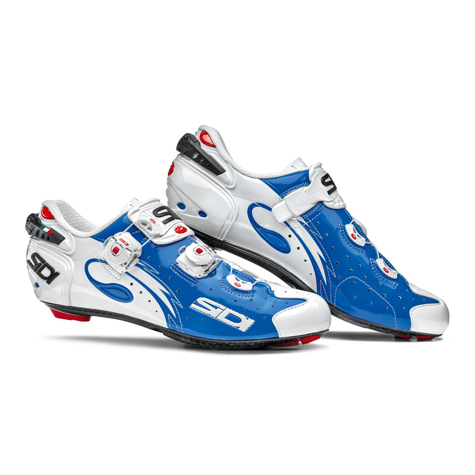 Sidi Wire Carbon Vernice Cycling Shoes White Blue