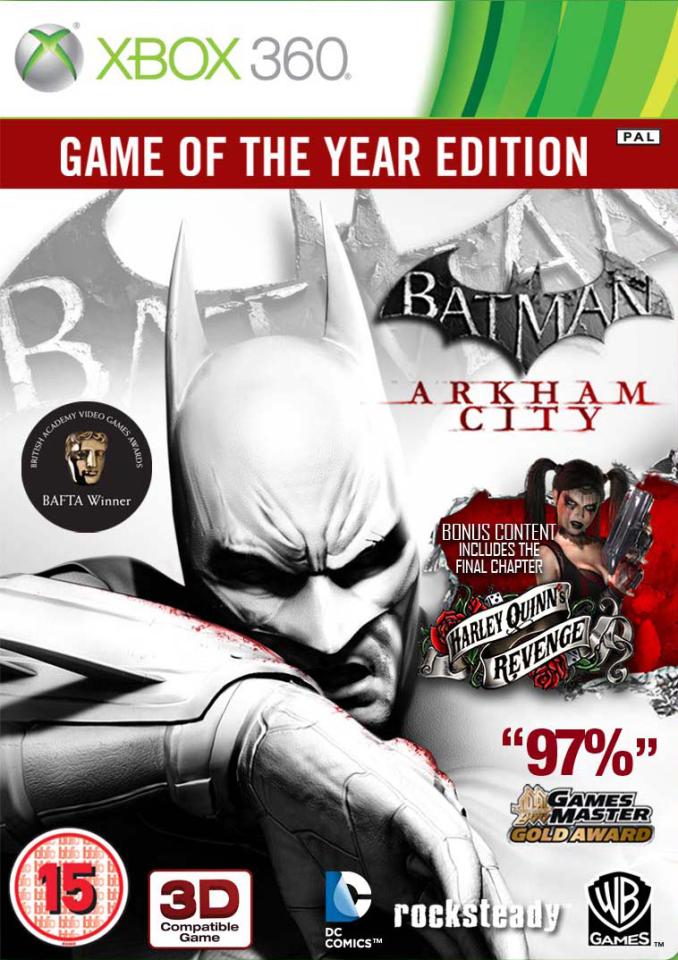 Batman Arkham City Game Of The Year Edition Xbox 360 Zavvi