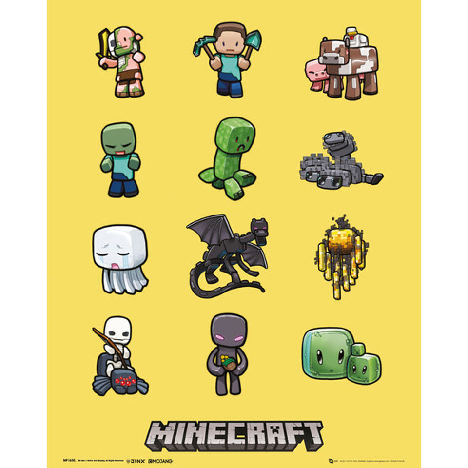 minecraft-characters-mini-poster-40-x-50cm